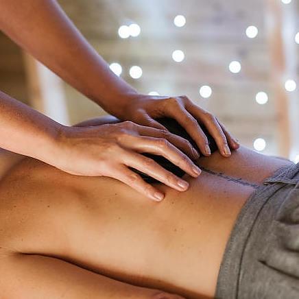 Pijnlijke spieren massage